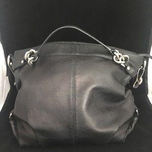 Coach Bags - Coach VTG Soft Black Shoulder Bag Silver Hardware